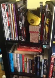 Comics shelf 1 and YA shelf